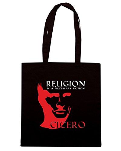 T-Shirtshock - Bolsa para la compra OLDENG00442 cicero religion Negro