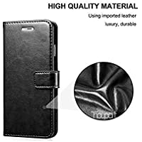 Goelectro Redmi Note 7 / Note7 Leather Dairy Flip Case Stand with Magnetic Closure & Card Holder Cover (Black)
