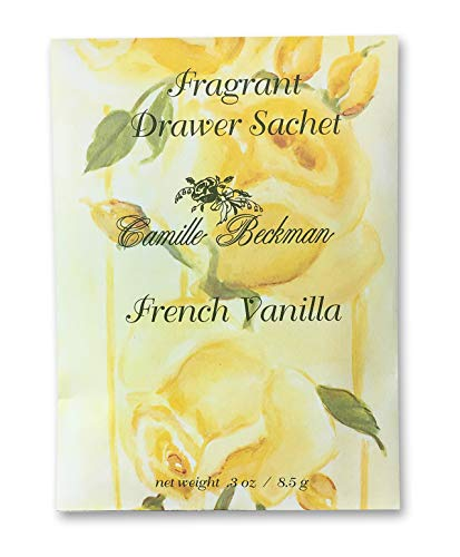 Camille Beckman Premium Fragrant Drawer Sachet, French Vanilla, 0.3 Ounce (3 Pack)