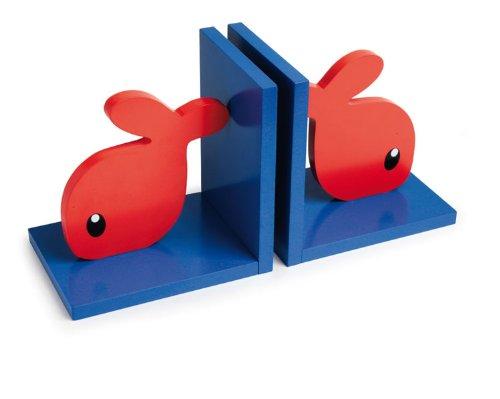 Egmont Toys Buchstützen, Bücherhalter, Bücherstütze, Motiv: Fisch, 19 cm