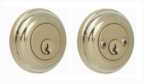 Rockwell Premium Solid Brass Low Profile Double Cylinder Deadbolt in Brass Durable hardware door locks, Door hardware