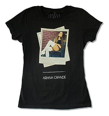 Bravado Juniors Ariana Grande Tilt Black Baby Doll T Shirt