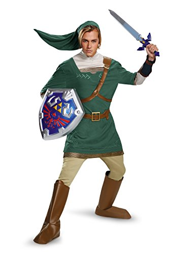 Link Legends Of Zelda Costume (Disguise Men's Legend Of Zelda Link Prestige Costume, Green, Medium)