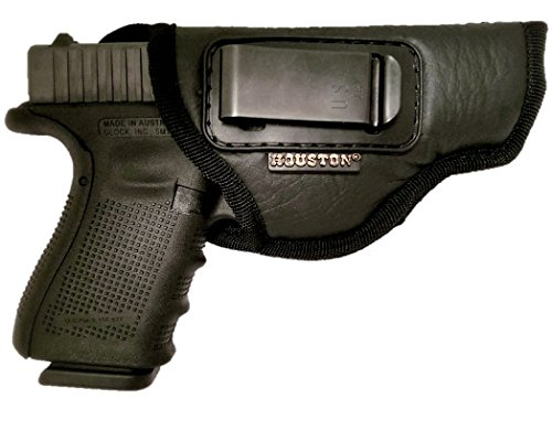 IWB Gun Holster by Houston - ECO LEATHER Concealment Inside The Waistband With Metal Clip FITS GLOCK 17/21, H &K,BERETTA 92 FS,XDM,RUGER 45, BERSA PRO, PX4, FNX 45, FNH 45, HI POINT 9mm/. 40/.45Cal