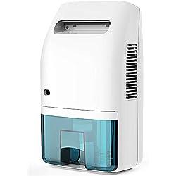 Afloia Electric Dehumidifier for Home Bathroom 2000ML(68 oz),Portable Dehumidifiers for Home 2201 Cubic Feet Space,Quiet Auto-Off Dehumidifiers for Bathroom,Kitchen,Bedroom,Basement,Bedroom,Closet