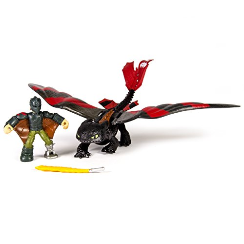 DreamWorks Dragons, Dragon Riders, Hiccup [Mask] and Toothless Figures