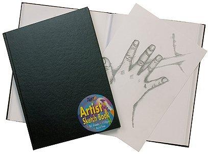 Paquete De 5 papel de artista Sketch Book Blanco Cartucho Negro Tarjeta Cubierta Pad A4 A5