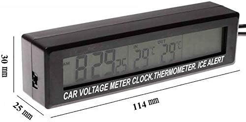 BUIDI 12V 5-24V Voltmetro Elettronico Termometro Orologio per Modulo Monitor LED Auto Auto