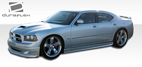 2006-2010 Dodge Charger Duraflex VIP Side Skirts Rocker Panels - 2 Piece (Side Fiberglass Skirt)