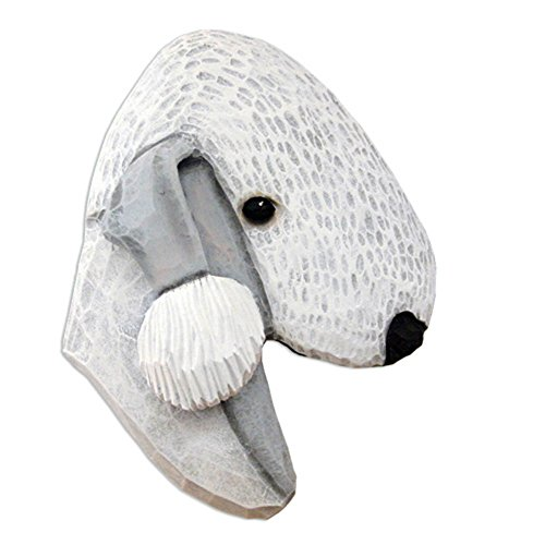 Bedlington Terrier Figurine (Bedlington Terrier Head Plaque Figurine Blue)