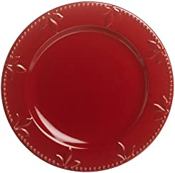 Signature Housewares Sorrento Collection 11-Inch Round Dinner Plate Ruby Antiqued Finish  sc 1 st  Amazon.com & Amazon.com: Purple - Dinner Plates / Plates: Home \u0026 Kitchen