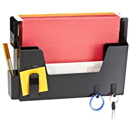 Officemate OIC Versa Plus Letter Size Wall File Organizer, Black (23192)