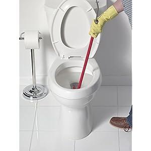 Liquid Plumr Toilet Snake - in use closeup