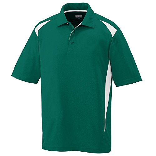 Augusta Sportswear Men's X-Large Augusta Premier Polo, Dark Green/White