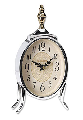 Orvis French Market Table Clock, Silver