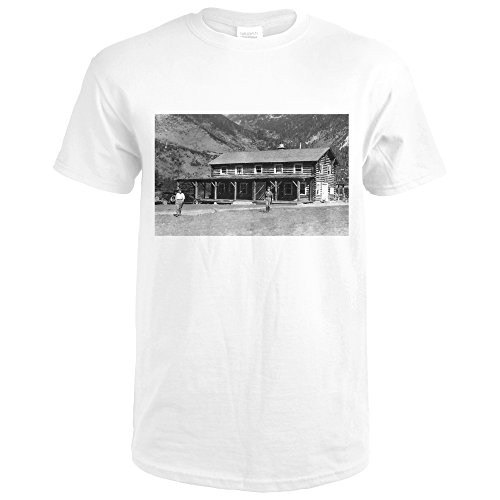 Lantern Press Alpine, Montana - Exterior Of ter-O-Dar Ranch Main Lodge (Premium White T-Shirt XX-Large) (Alpine Lantern)