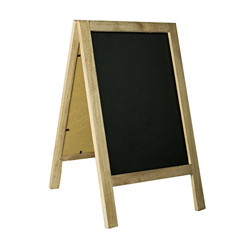 SUPERIORFE Vintage Free Standing Wooden Easel Chalkboard, Rustic Style Two-Side Wood Frame Blackboard (Frame Dimensions: 8.7