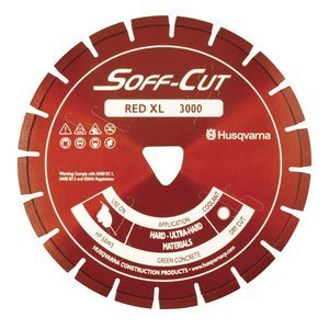 Husqvarna Construction Products 542777007 XL6 3000 Soff Cut Ultra Early Entry Diamond Blade (Early Entry Diamond Blade)