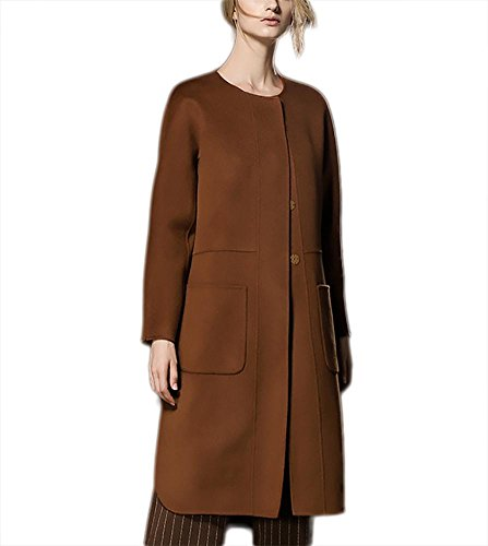 lana otoño Chaqueta de cachemira doble Slim de caramel Abrigo Fit de mujeres de cara Windbreaker caramelo de e invierno las Outwear pwq5q1Yxdr