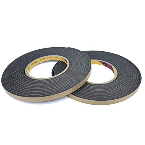 TY High Density Foam Seal Adhesive Tape, Weather Stripping for Windows and Door, Waterproofing, Soundproofing, Insulation, Gasket Purpose, 3/8
