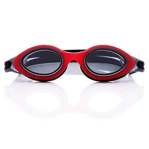 TTYY Lunettes de natation HD Placage confortable imperméable anti-buée unisexe