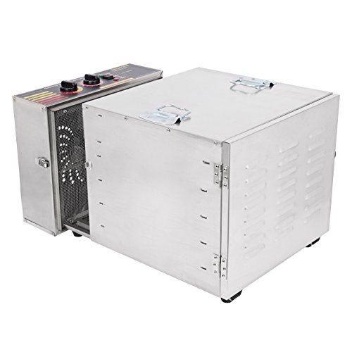 Ridgeyard 1000W Stainless Steel 10-Tray Countertop Food Dehydrator Fruit Jerky Dryer Food Saver Preserver Dehydration Vegetable Meat Beef Jerky Maker W/ Timer,Temperature Control for a Healthy Diet by Ridgeyard co,.ltd (Image #4)