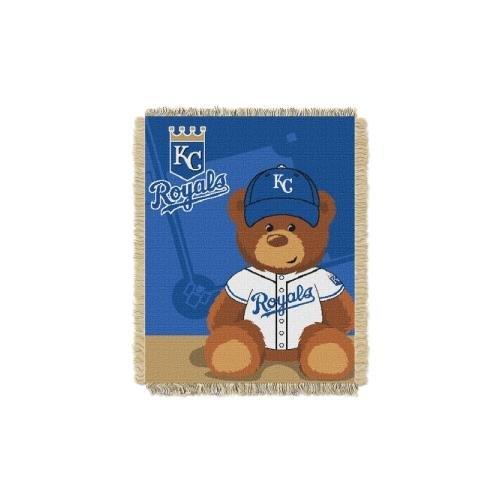 The Northwest Company MLB Kansas City Royals Field Bear Woven Jacquard Baby Throw, 36