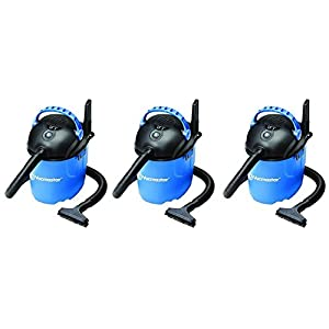 Vacmaster 2.5 Gallon, 2 Peak HP, Portable Wet/Dry Vacuum, VP205 (3-Pack)
