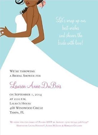 bridal side bali african american bridal shower invitation