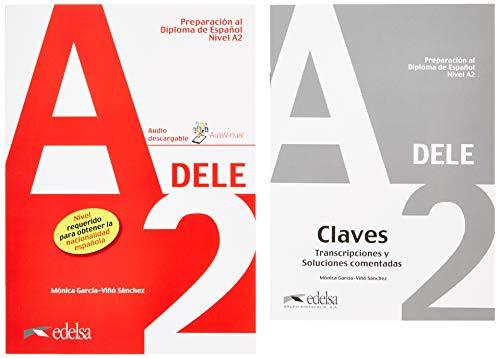 Pack DELE A2 (libro del alumno + claves) (Preparación Al Dele - Jóvenes Y Adultos - Preparación Al Dele - Nivel A2) por García-Viñó Sánchez, Mónica María
