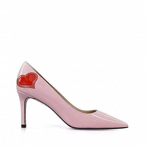 Sauvages Chaussures Rose Peu Profonde Hauts avec Pointue Fine Une NSX Talons Bouche 6wFzv1x