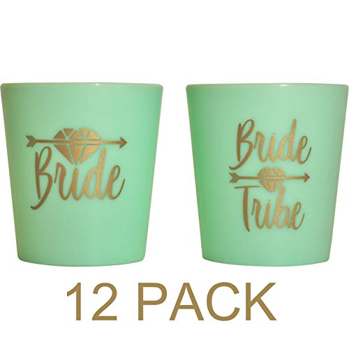 Bridesmaid Shot Glasses (Bridal 2 oz. Shot Glasses 12 Cups Set - 1