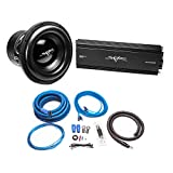 Skar Audio ZVX-12v2 D2 3,000 Watt Max Power 12' Subwoofer with RP-2000.1D Monoblock Sub Amplifier + 1/0 Gauge Amp Kit