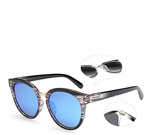 Madera Sol De De De Personalidad Ultravioleta De Blue Grano Polarizadas Unisex Gafas Gray Gafas De Anti Retro Viaje Imitación Conducción 50PPwx
