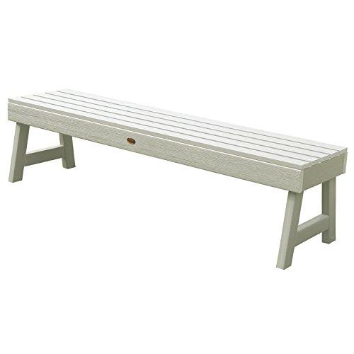 5' Round Bench (Highwood Weatherly Backless Bench, 4-Feet, Whitewash)