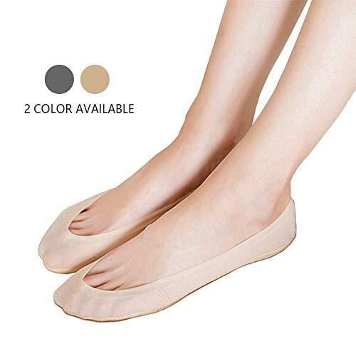 CHOOES No Show Socks Women Ultra Low Cut Socks Womens Socks No Show Liner Cotton Socks Nylon Liner Ballet Socks Footie Socks Pack of 6