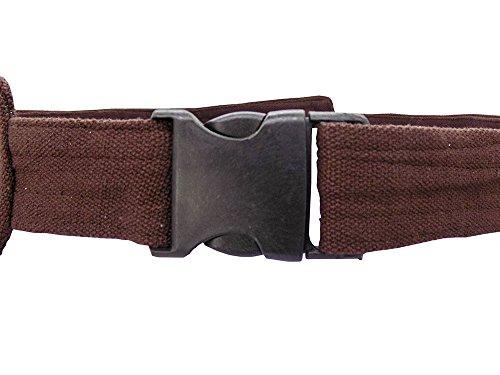 Hüfttasche mit Muster braun - Baumwolle - mit Magnetverschluss
