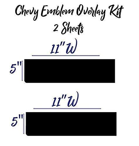 BLACK GLOSS Emblem Overlay Kit 7 DIY || FREE Steering Wheel Kit Included Extra Overlay Sheet Compatible with Chevy Bowtie Silverado Colorado Suburban 1500 S10 Tahoe Camero and More