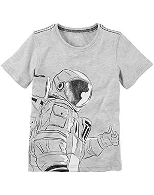Carter's Little Boys' Cotton Astronaut Tee (Grey)