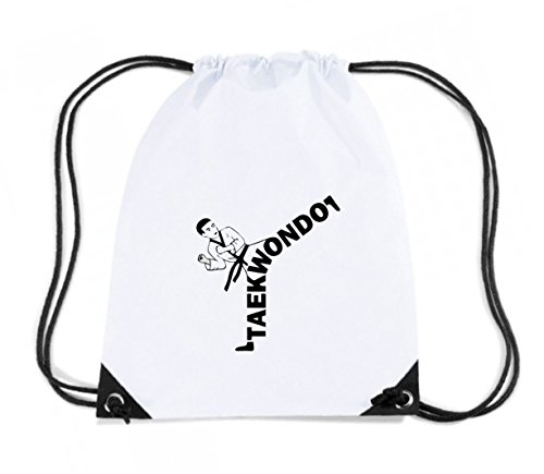 Budget Cotton taekwondo Gymsac kicker sweatshirt White Backpack TAM0174 hooded Island pEEgwO