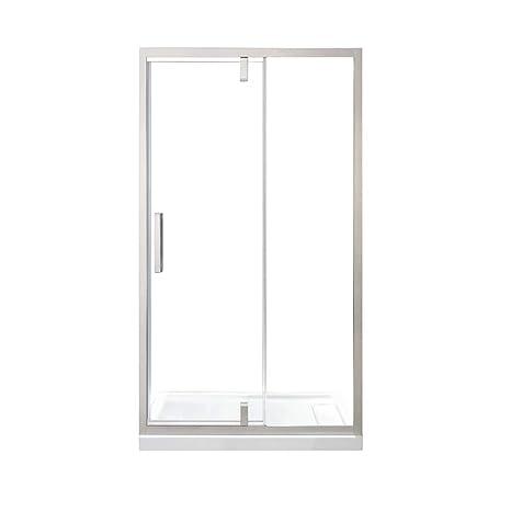 Framed Pivot Shower Doors.Ove Decors Estero 48 In Sn Framed Pivot Shower Door Nickel