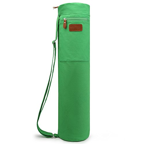 ELENTURE Yoga Mat Tote Bag for Yoga Matte with Multi-Functional Storage Pockets (Green)