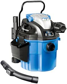 Vacmaster 5 Gallon, 5 Peak HP, with 2-Stage Motor, Wet/Dry Vacuum, Wall Mountable...