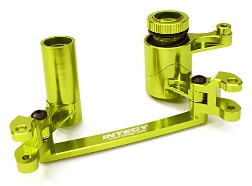 Integy RC Model Hop-ups C26867GREEN Billet Machined Steering Bell Crank Set for Axial 1/8 Yeti XL Rock Racer Buggy