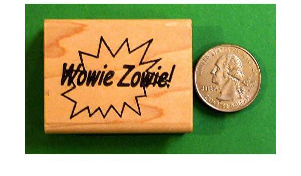 Wowie Zowie Teacher/'s Wood Mounted Rubber Stamp