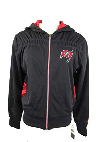 Tampa Bay Buccaneers Womens Rhinestone - G-III Sports Tampa Bay Buccaneers Womens Medium Full Zip Embroidered Hooded Jacket with Rhinestone Detail ATPA 10 M