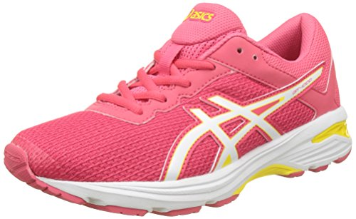 Asics Unisex-Kinder Gt-1000 6 Gs Gymnastikschuhe Rot (Rouge Red / White / Vibrant Yellow)