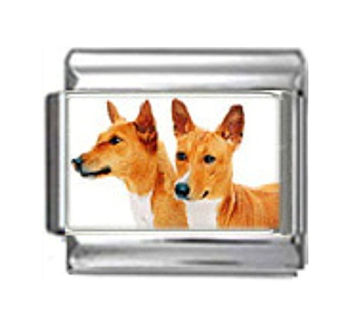 Stylysh Charms Basenji Dogs Photo Italian 9mm Link DG045