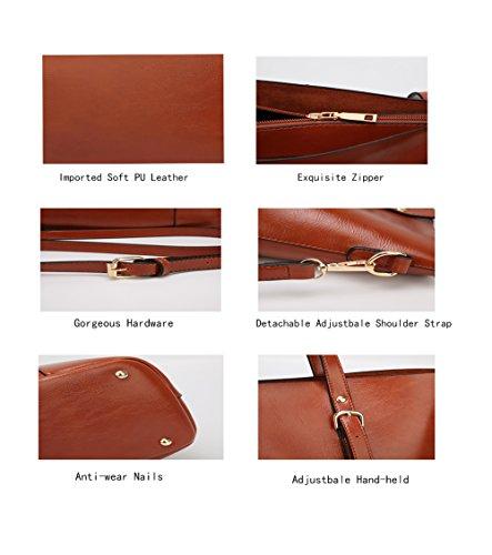 Handbag for Women Soft PU Leather Top Handle Satchel Clutch Purse Shoulder Bags for Lady by Jeniulet (Image #3)