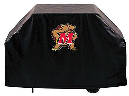 (Holland Bar Stool Co. Maryland Terrapins HBS Black Outdoor Heavy Duty Vinyl BBQ Grill Cover (60